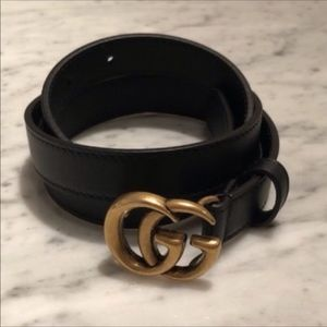 Authentic Gucci Gold GG Belt